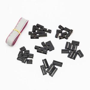Set Connettori per cavo flat - Passo 1.27mm