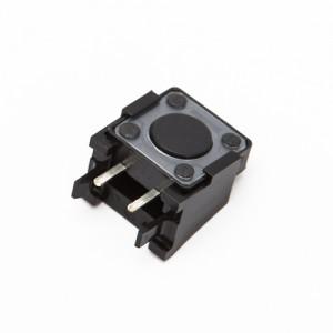 Altezza 4,4mm - Pulsanti da circuito stampato 4pin 12x12mm 90°