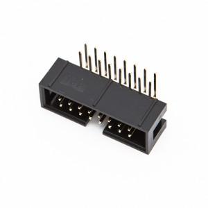 16 poli - Connettori maschio basso profilo 90° per cavo flat
