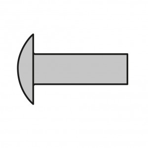 Ribattini in ottone - Ø 1,40 mm-L 8mm - 500 pezzi - Brass rivets