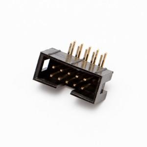 Connettore IDC maschio basso profilo per cavo piatto flat 90° 10 poli