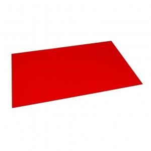 Lastra in plastica per incisione CNC e Laser - 300x200mm - Bianco/Rosso